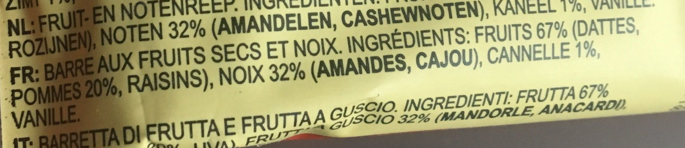 Apple Cinnamon - Ingrédients - fr