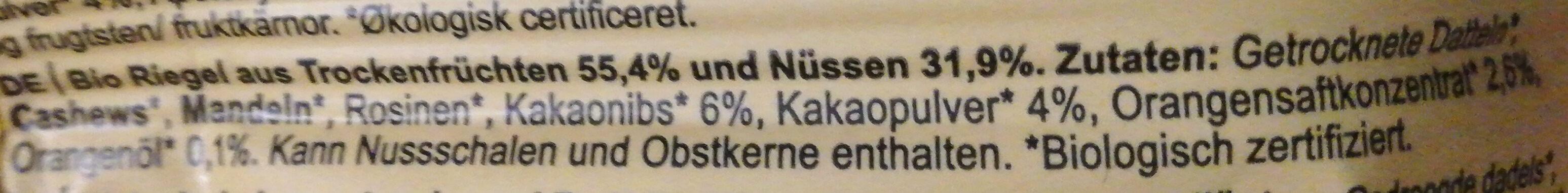 orange cacao - Ingredients - de