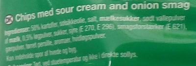 Snaxters Sour cream & Onion - Ingredients