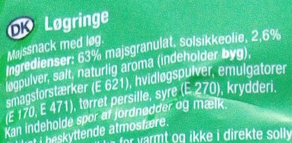 Snaxters Onion Rings - Ingredients