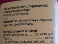 Kingsway Sok Pomarańczowy - Składniki - pl