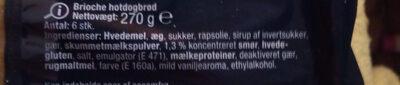 brioche hot-dog brod - Ingredients - de