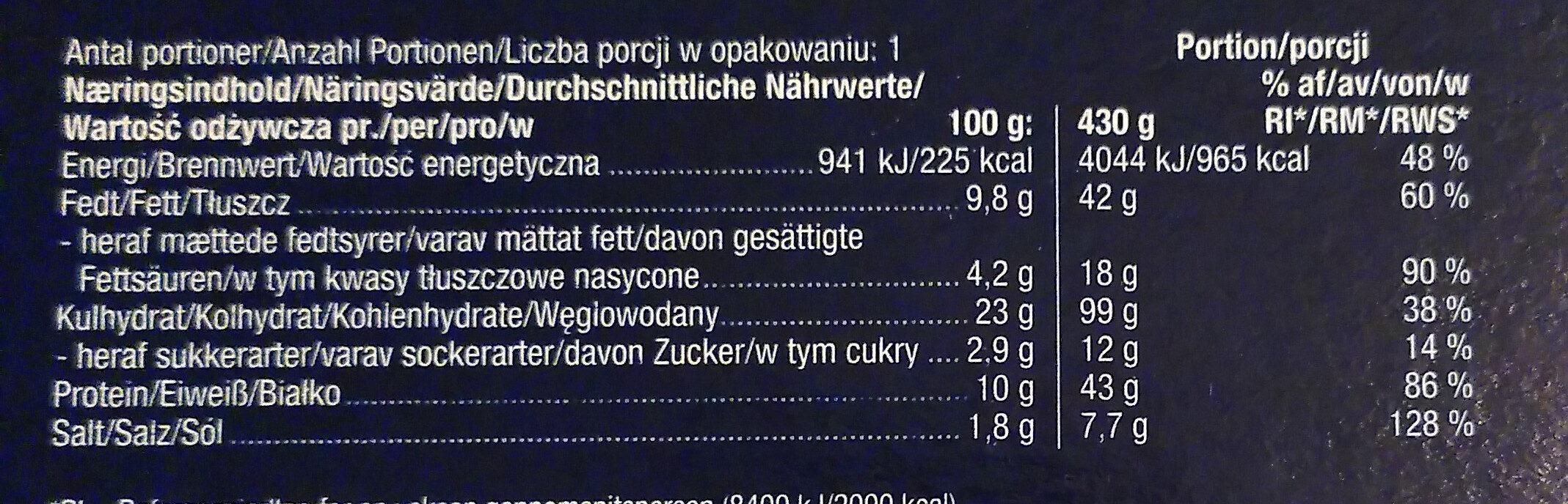 Meat Speciale - Nährwertangaben - de