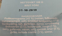 Curry Chicken - Ingredients