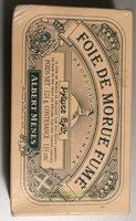 Foie De Morue Fumé, 121 Grammes, Marque Albert Ménès - Informations nutritionnelles