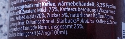 Starbucks DoubleShot Espresso - Ingredients