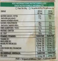 Extra Crunchy Muesli Original - Nutrition facts - fr