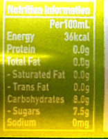 Jolly Shandy (Lemon Flavoured) - Nutrition facts