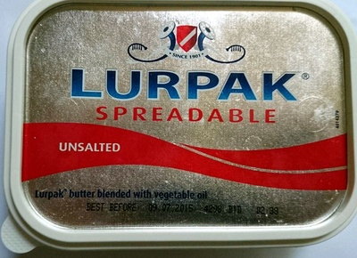 Lurpak Spreadable Unsalted Butter - Product