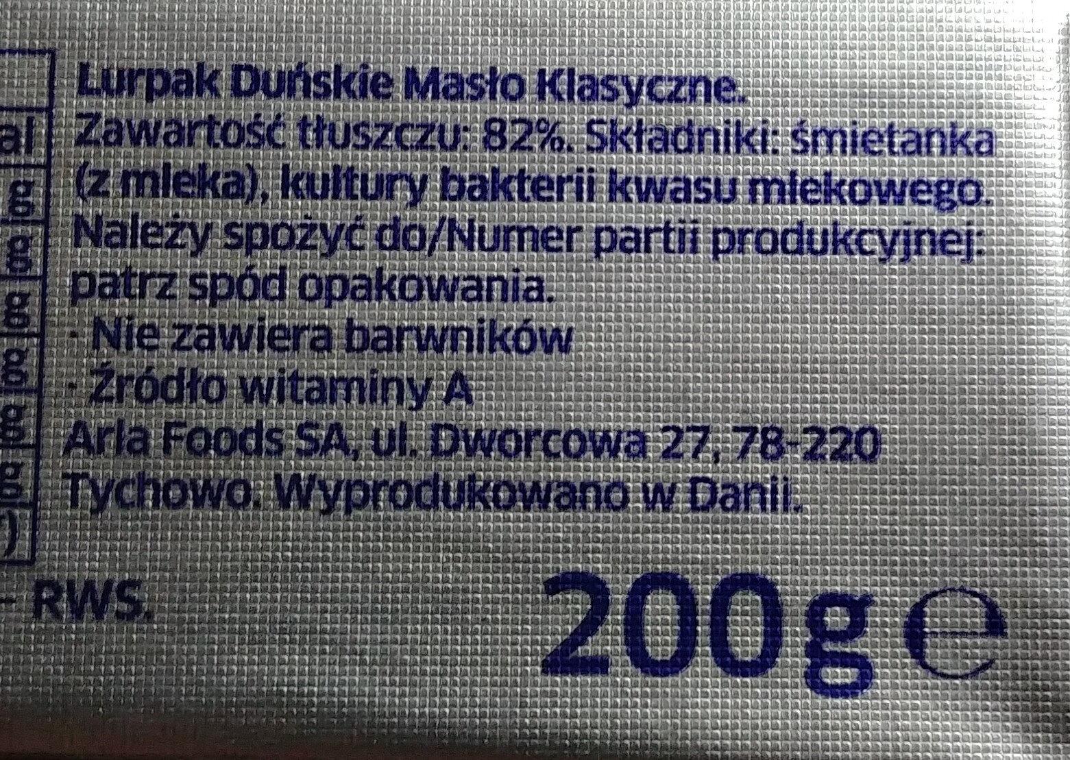 Duńskie masło - Składniki - pl