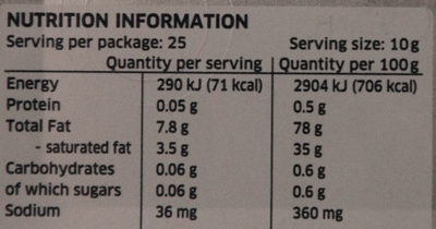 Lurpak Spreadable Slightly Salted - Nutrition facts