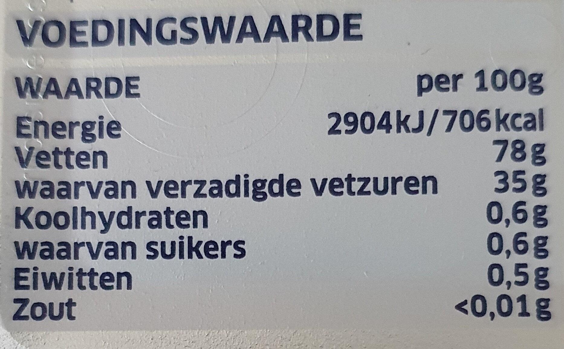 Roomboter met Koolzaadolie, ongezouten - Nutrition facts - nl