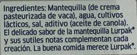 MANTEQUILLA UNTABLE CON SAL - Ingredients