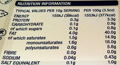 Lurpak Spreadable Lightest - Nutrition facts