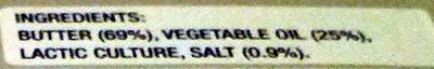 Lurpak Spreadable Slightly Salted - Ingredients - en