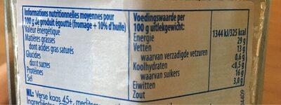 Feta Nat / Olie - Informations nutritionnelles - fr
