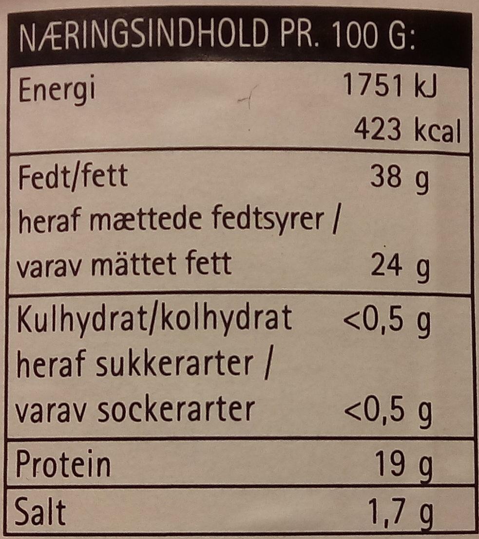 Tasty Cheese Flødehavarti 60+ - Voedingswaarden - da