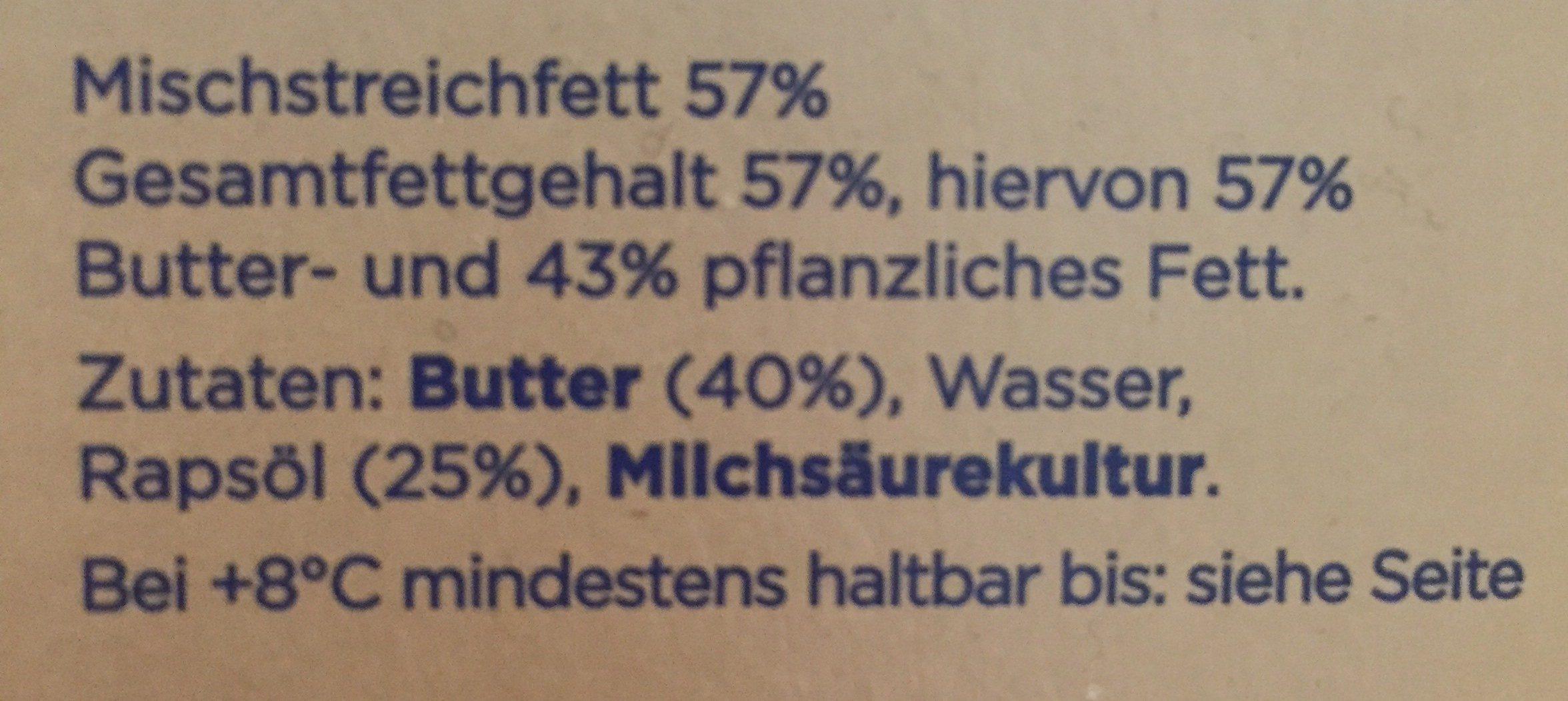 Kærgården  Butter Balance ungesalzen - Ingrediënten - de