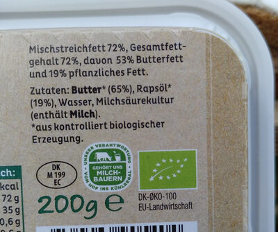 Arla Streichzart Bio - Ingrediënten - en