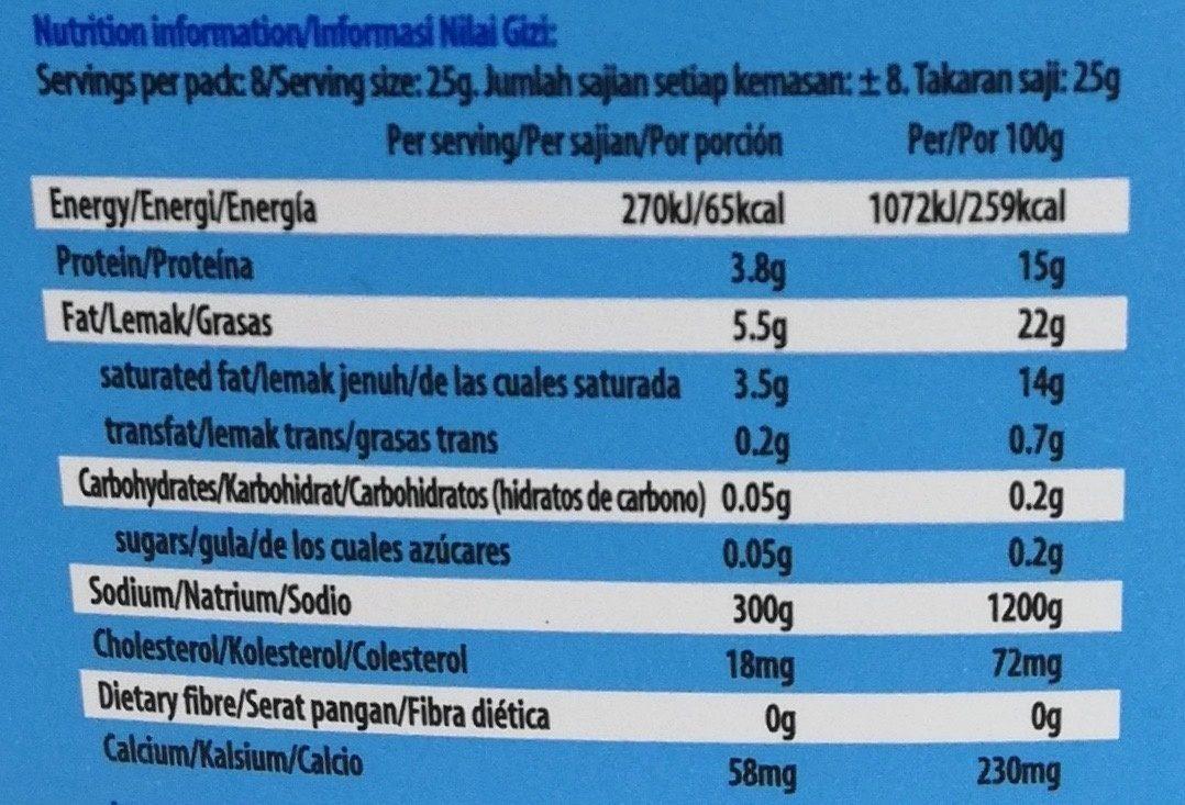 Apetina Queijo Feta - Nutrition facts - es