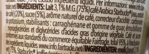 Seattle Latte - Ingrédients