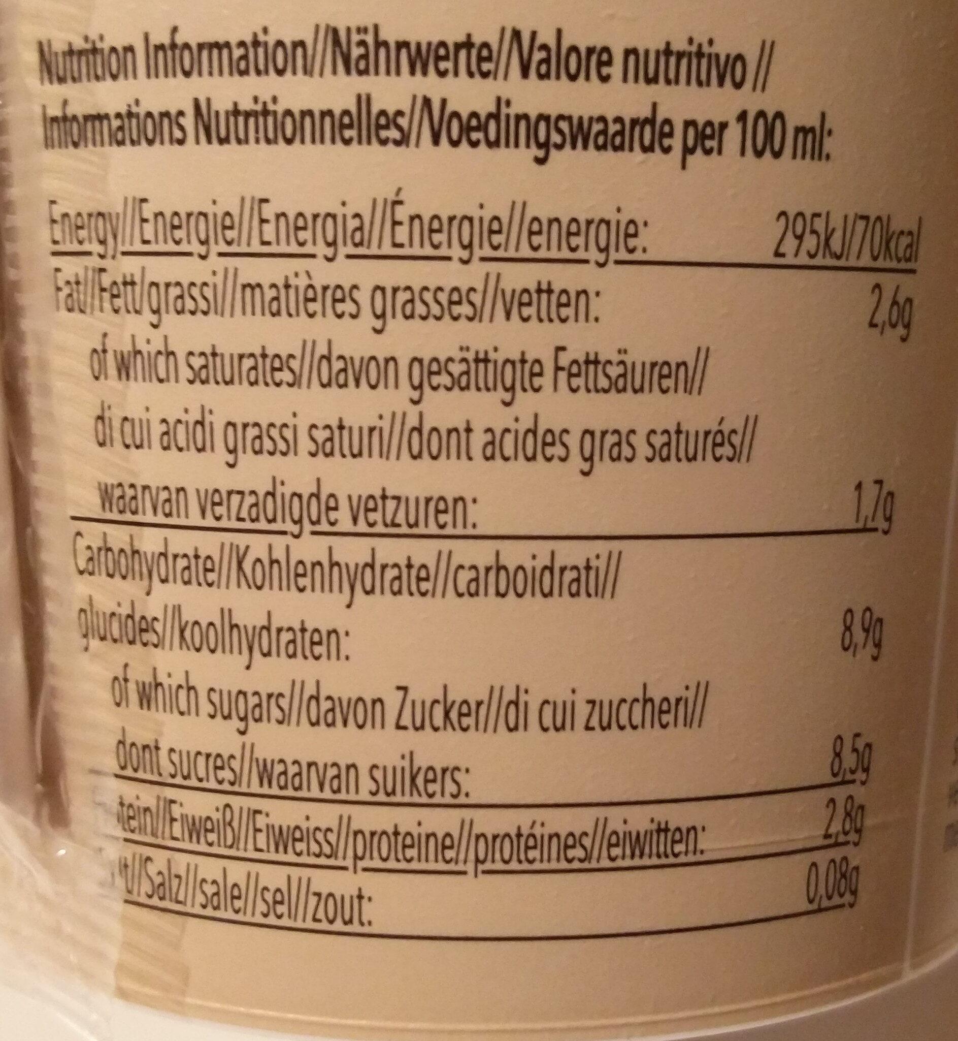 Caffè Latte - Voedingswaarden - de