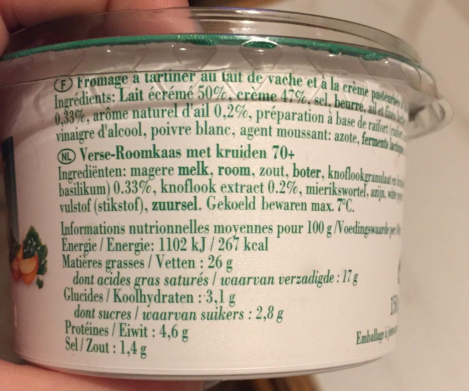 Garlan - Informations nutritionnelles - fr