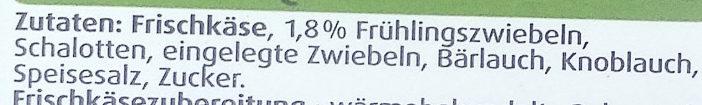 Arla Buko Frühlings-Zwiebeln - Ingrediënten - de