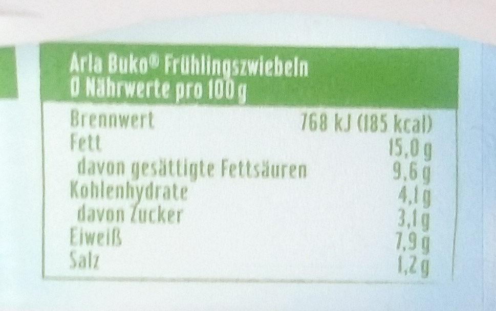 Arla Buko Frühlings-Zwiebeln - Voedingswaarden - de