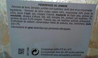 Piémontaise au jambon - Ingredientes
