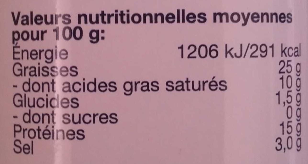 Délice de Jambon - Nutrition facts