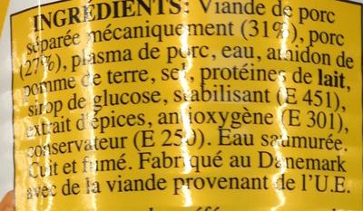 Saucisses Cocktail - Ingredients