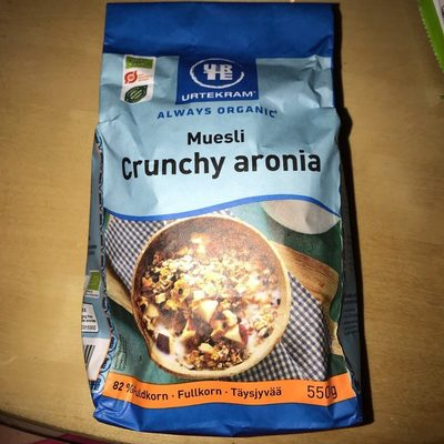 Urtekram Crunchy Aronia Havremüsli Eko 550G - Product