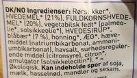 Urtekram Blåbærsnitter - Ingredients