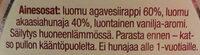 Hunajainen vanijsiirappi - Ingrediënten - fi