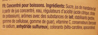 Sunquick - Ingrediënten - fr