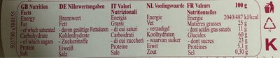 Danish Butter Cookies Original - Nutrition facts