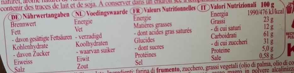 Nostalgic Santa - Nutrition facts