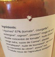 Compotee de legumes ratatouille - Ingrédients - fr