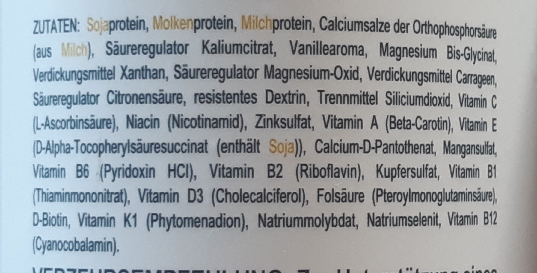 Triple Protein Shake - Ingredients - de