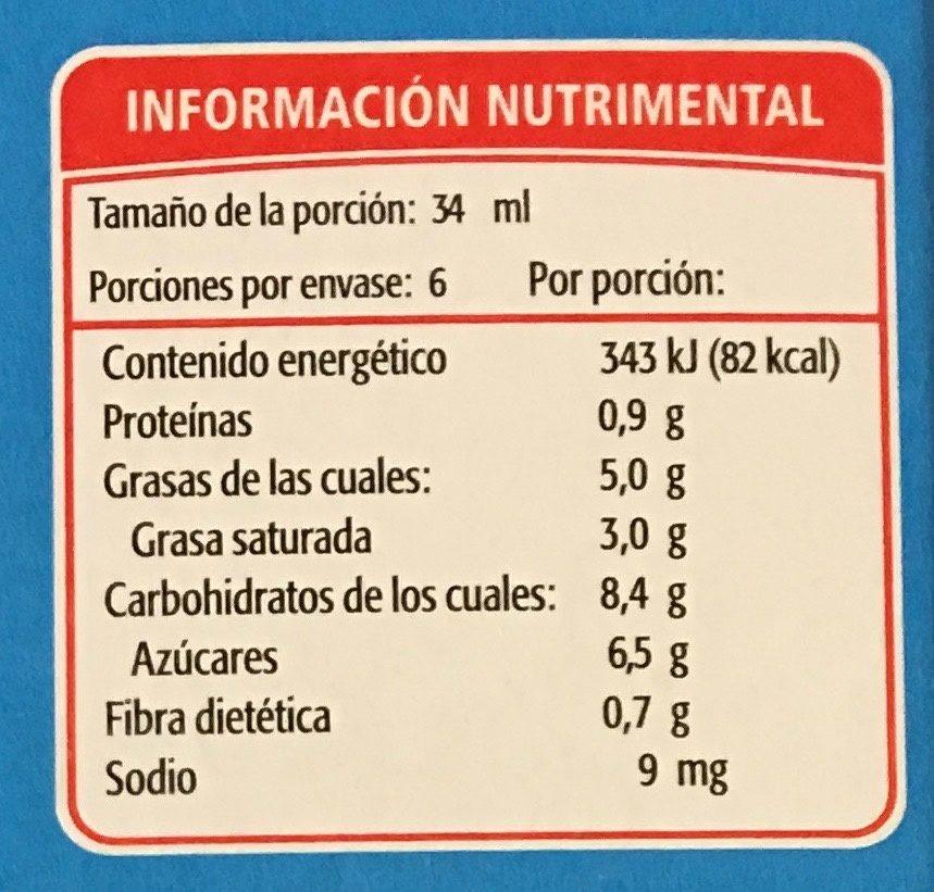 Paleta Mini Choc Holanda - Informations nutritionnelles - es