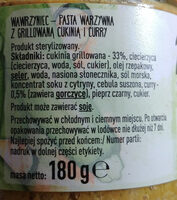 Pasta warzywna z grillowaną cukinią i curry - Ingredients