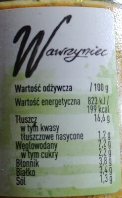 Pasta warzywna z grillowaną cukinią i curry - Nutrition facts