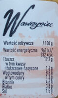 Wawrzyniec - Pasta warzywna z ciecierzycą, pieprzem i czarnuszką - Wartości odżywcze - pl