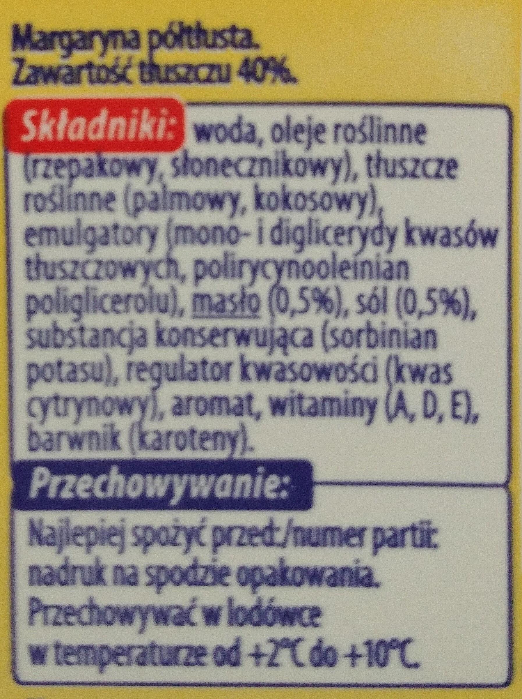 Margaryna półtłusta 40%. - Składniki - pl