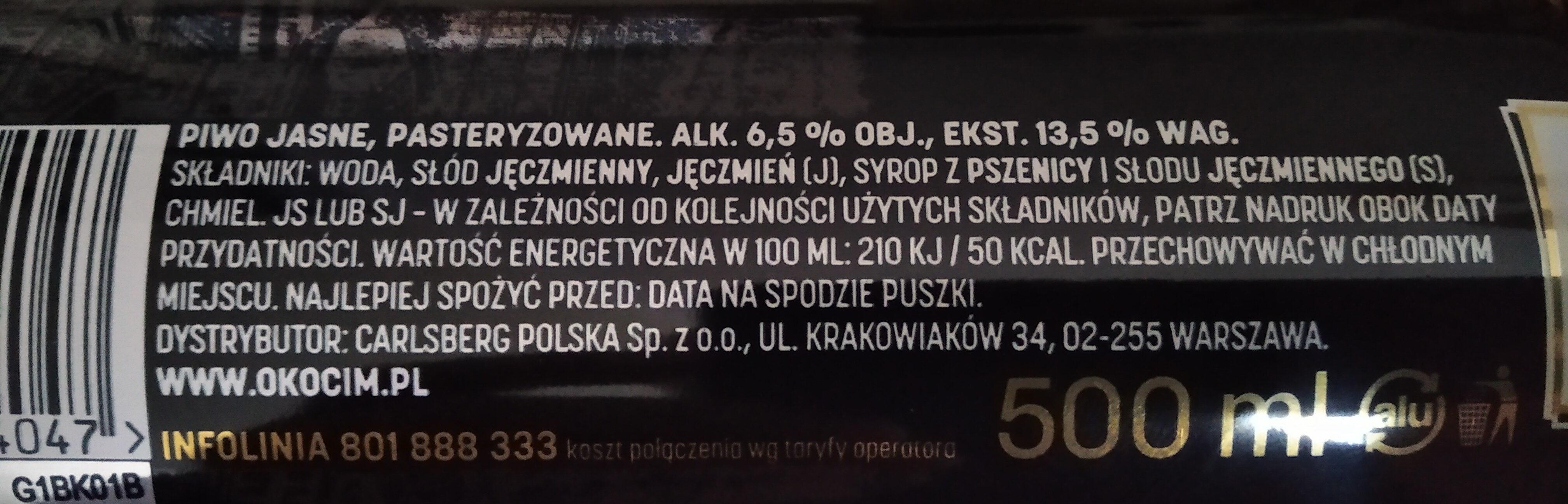 Okocim Mocne - Nutrition facts - pl