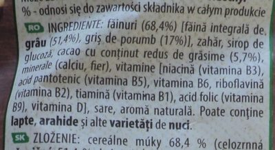 Nesquik - Ingredients - ro