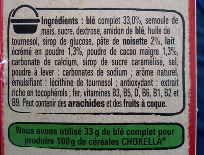 NESTLE CHOKELLA Céréales 350g? - Ingredients - fr