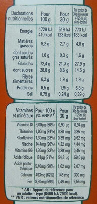 NESTLE CHOKELLA Céréales 350g? - Nutrition facts - fr