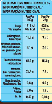 Chocapic Barres - Nutrition facts - fr